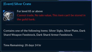 [Event] Silver Crate tooltip