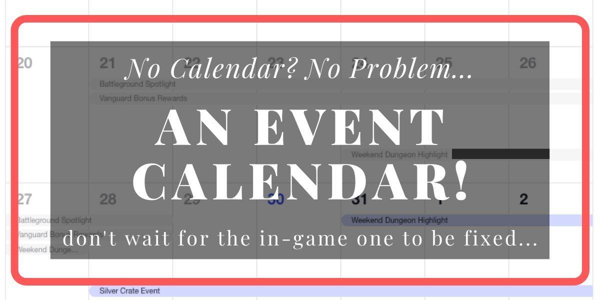 post banner - TERA Event Calendar Annoucement