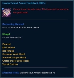 Exodor Scout Armor Feedstock III