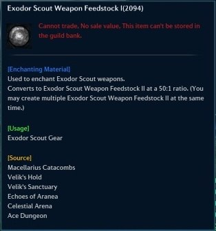 Exodor Scout Weapon Feedstock I