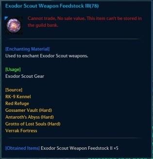 Exodor Scout Weapon Feedstock III