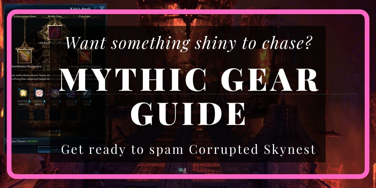 TERA Mythic Gear Guide