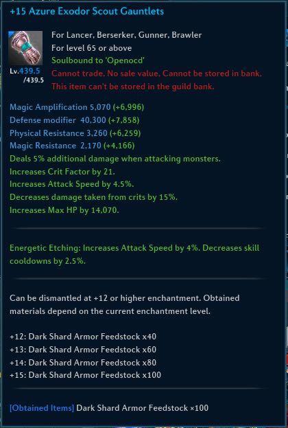 Exodor Scout Gear Hard Armor