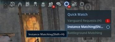 instance matching menu